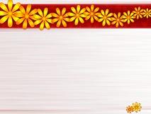Staal en bloemen stock illustratie