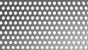Staal geperforeerd blad Blad met gaten Achtergrondstaalplaat met prostura Breed formaat het 3d teruggeven stock illustratie