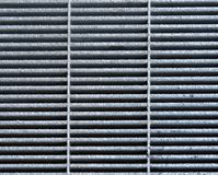 Staal Gray Metal Grate voor achtergrond of architecturaal detail Royalty-vrije Stock Foto