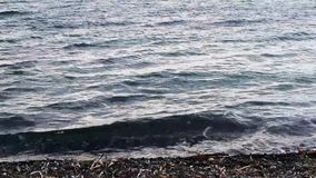 Staal Grey Blue Sea Water stock video