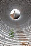 Staal op bouwwerf in Noord-Amerika stock afbeelding
