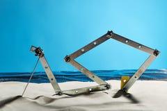 Staal op het strand Royalty-vrije Stock Foto