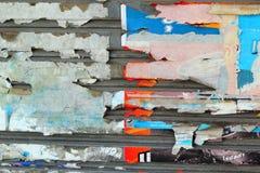 Staalachtergrond met abstract document van langzaam verdwenen Stock Foto's