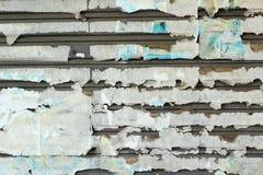 Staalachtergrond met abstract document van langzaam verdwenen Stock Afbeeldingen