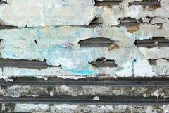 Staalachtergrond met abstract document van langzaam verdwenen Stock Foto