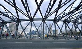 Staalbrug & de Horizon van Shanghai stock foto