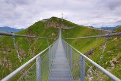 Staalbrug, de Manier van Stubnerkogel, Slechte Gastein, Kabelbaan, Oostenrijk Royalty-vrije Stock Foto