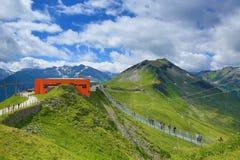 Staalbrug, de Manier van Stubnerkogel, Slechte Gastein, Kabelbaan, Oostenrijk Royalty-vrije Stock Foto's