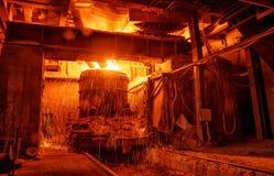Staalfabricageworkshop stock afbeeldingen