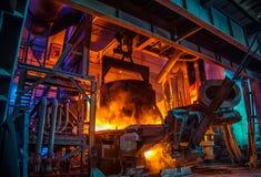Staalfabricageworkshop stock fotografie