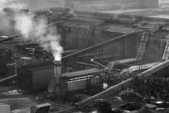Staalfabriek stock afbeelding