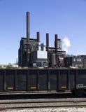 Staalfabriek stock foto's