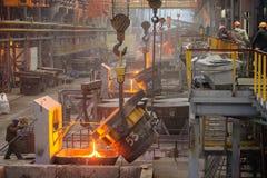 Staalfabriek royalty-vrije stock foto's