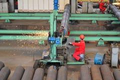 Staalfabriek binnen Stock Afbeeldingen