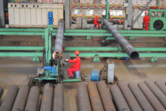 Staalfabriek binnen Royalty-vrije Stock Foto