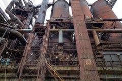 Staalfabriek buiten Stock Foto