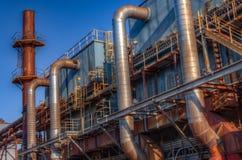 Staalfabriek in Martins Ferry, OH stock afbeelding