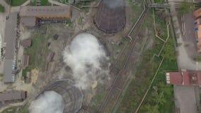 staalfabrieken stock footage