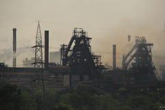 Staalfabriekverontreiniging Stock Afbeeldingen