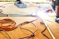 Staallassers, elektronika in industriële toepassingen stock afbeelding