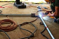 Staallassers, elektronika in industriële toepassingen royalty-vrije stock foto