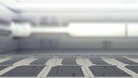 Staallijst aangaande een ruimteschip, Achtergrond sc.i-FI - kan gebruikt voor vertoning of montering uw 3d producten teruggeef stock illustratie