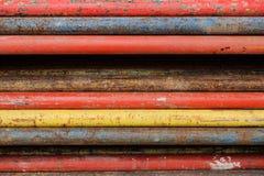 Staalpijp voor gewapend beton stock foto's