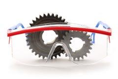 Staaltandraderen en beschermende brillen royalty-vrije stock afbeelding