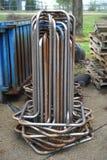 Staaltribunes voor gegalvaniseerde recyclingsdraad stock afbeeldingen