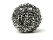 Staalwol Schoonmakende bal, roestvrije steelï ¼ ‰ stock afbeelding