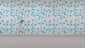 Staande lamp in het lege ruimte 3d teruggeven Royalty-vrije Illustratie