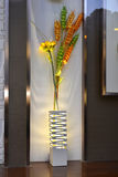 Staande lamp in winkelvenster Stock Afbeeldingen