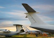 Staart van vliegtuig Stock Afbeelding