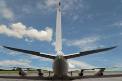 Staart van vliegtuig Royalty-vrije Stock Afbeeldingen