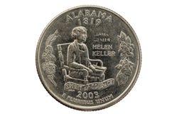 Staat Alabama-Viertelmünze lizenzfreie stockfotografie