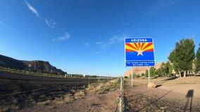 Staat Arizona-Willkommensschild-Zeitspanne stock footage