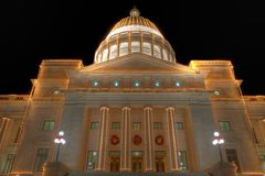 Staat Arkansas-Kapitol außen am Weihnachten Stockfotos