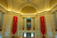 Staat Arkansas-Kapitol am Weihnachten Lizenzfreie Stockfotos