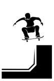 Staat California des Skateboardfahrer-silhouette Lizenzfreies Stockfoto