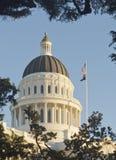 Staat California-Kapitol-Gebäude mit blauem Himmel Stockbild