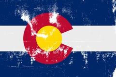 Staat Colorado-Flaggen-Schmutz Lizenzfreie Stockfotografie