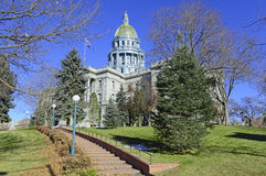 Staat Colorado-Kapitol-Gebäude, Haus von Generalversammlung, Denver Stockbilder