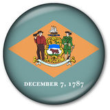 Staat Delaware-Markierungsfahnen-Taste Lizenzfreie Stockfotos