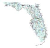 Staat Florida-zwischenstaatliche Karte Lizenzfreie Stockfotos