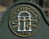 Staat Georgia-Dichtung Lizenzfreies Stockfoto