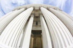 Staat-Gericht-Gebäude (fisheye) lizenzfreie stockbilder