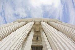 Staat-Gericht-Gebäude (fisheye) lizenzfreies stockbild