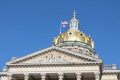 Staat Iowas-Kapitol-DES Moines, Iowa Lizenzfreies Stockfoto