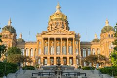 Staat Iowas-Kapitol-Gebäude stockfotos