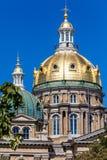 Staat Iowas-Kapitol-Gebäude, Des Moines Stockbild